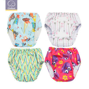 Elinfant wholesales cloth AIO diaper reusable cotton cloth diaper waterproof baby training pants