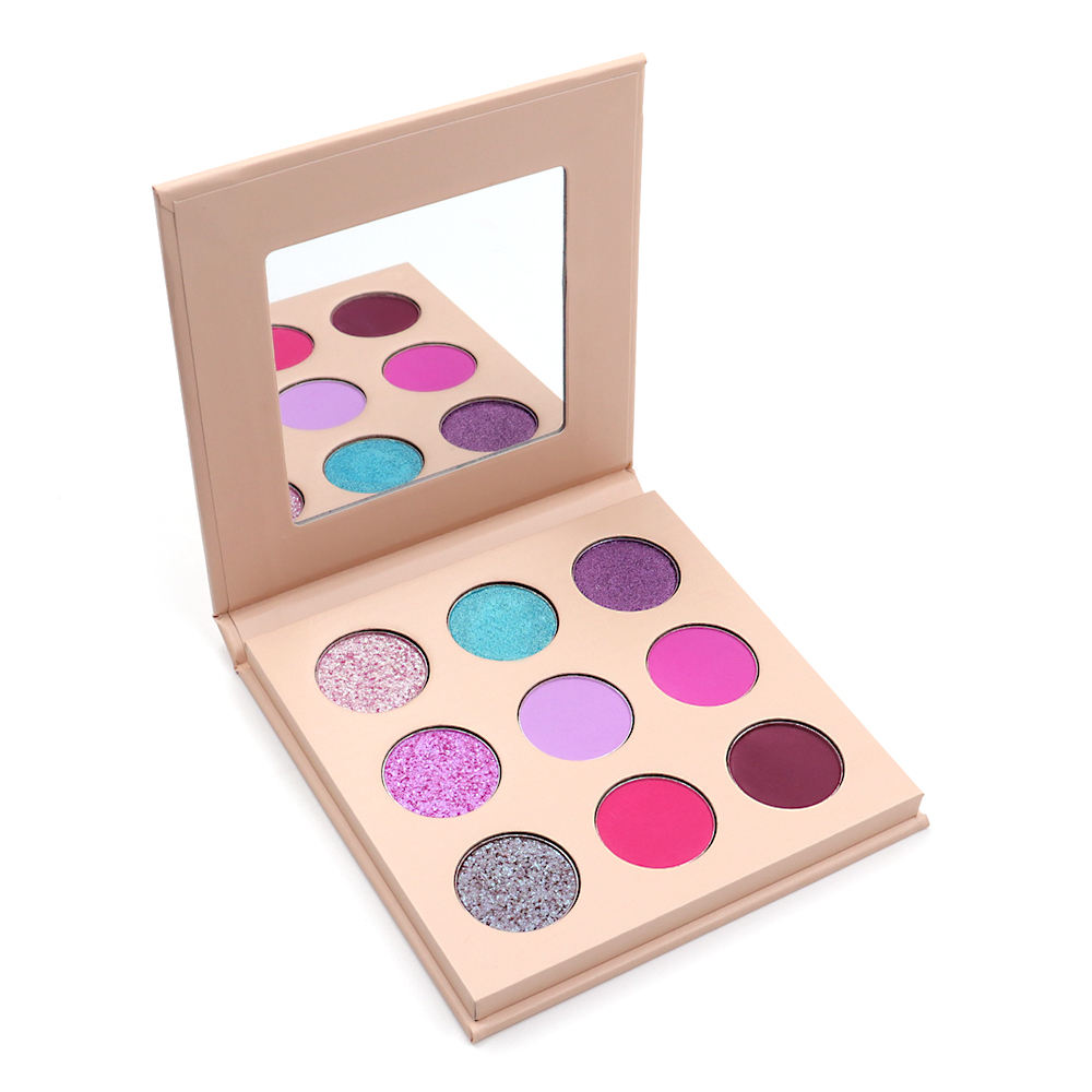 Custom your brand eyeshadow palette private label makeup palette 9 colors