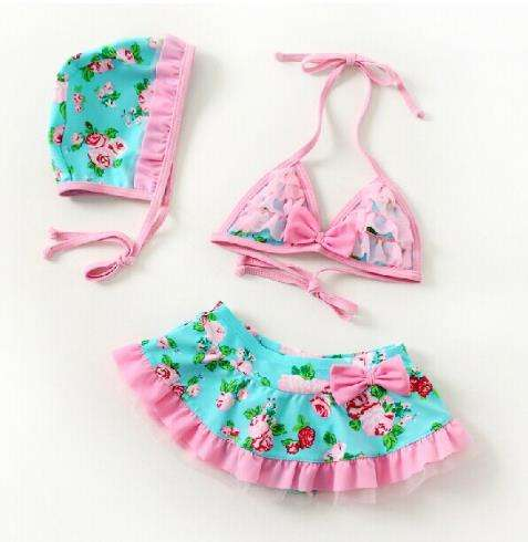 Kleinkind Baby Mädchen Floral Bademode <span class=keywords><strong>Badeanzug</strong></span> Bikini Outfits <span class=keywords><strong>Badeanzug</strong></span> Set