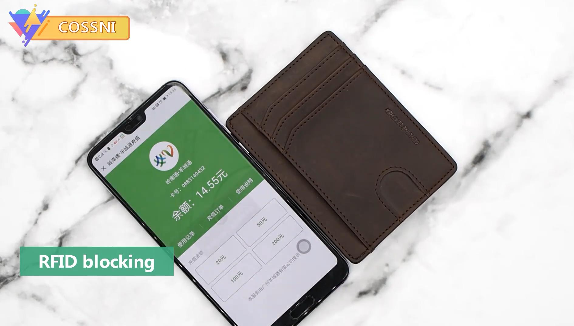 Unisexe Super Doux Qualité Premium Cuir véritable carte de crédit titulaire Wallet Purse