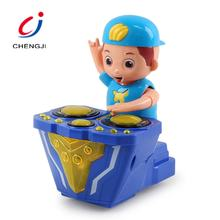 Electric friction cartoon plastic cheap sound gift djing small toys promotional