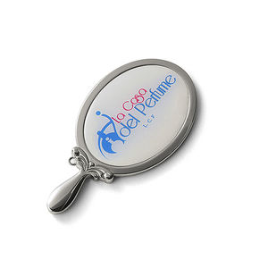 hot sale hand mirror with logo cosmetic compact