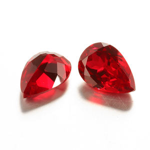Natural Ruby Pear Shape Loose Gemstone Cuts Ruby Gemstone Cuts 8.5x12 MM 1 Piece Top Quality Ruby Loose Cut Stone