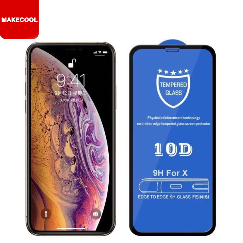 For iPhone 11 Pro Tempered Glass Screen Protector 10D Anti-shatter Film For iPhone X Xr Xs Max