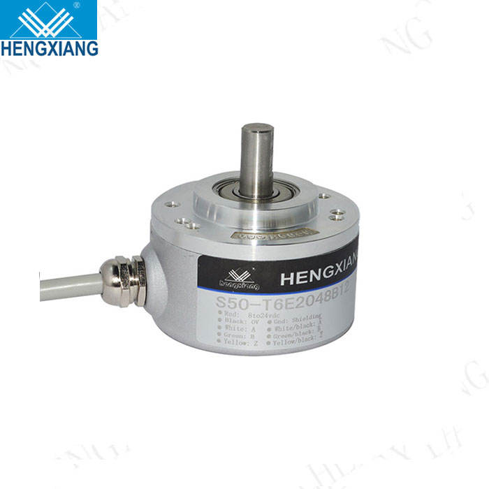 S50 8mm solid shaft 1024ppr RS422 circuit 5V-30V ip65 waterproof rotary encoder encoder e50s8 for packing machine