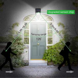 100 LED Solar Motion Sensor Light Outdoor 3 Modes With 270 Degrees Wide Angle