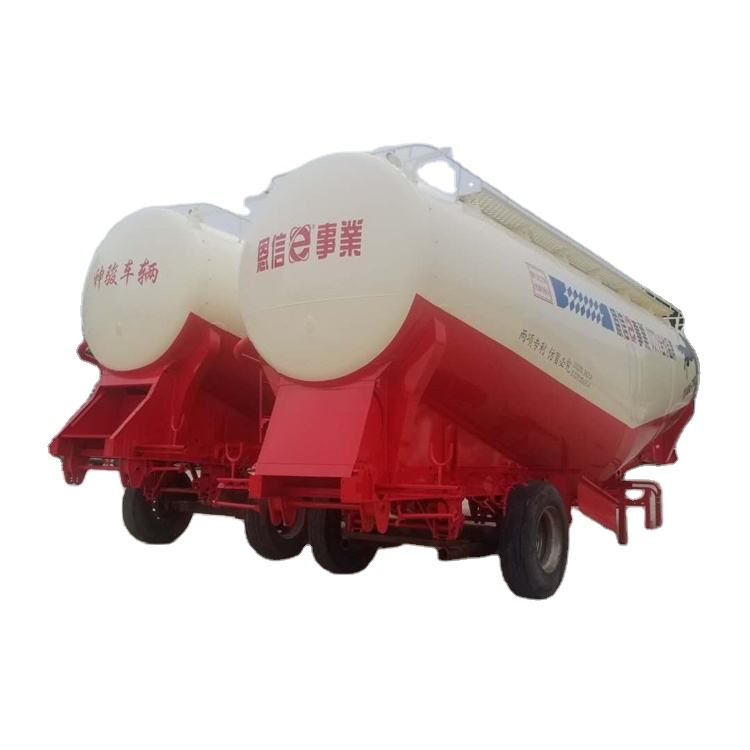 3 Axles 50cbm jetski Bulk carrier cement semi Trailer powder tank semitrailer and truck