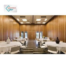 Operable Acoustic Divider Sliding  Restaurant Wall Partition Hotel Room Division Fire Proof Movable Partition