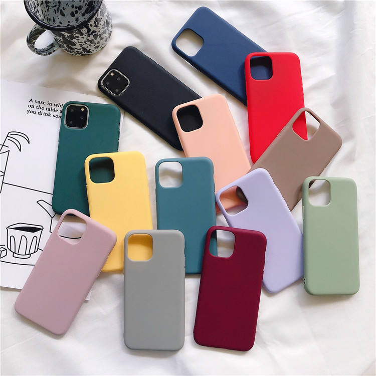 China Suppliers Frosted Soft Rubber Case For iPhone 6/7/8 Plus,Slim Matte TPU Phone Cover For iPhone X/XS XR 11 12 Pro Max Case