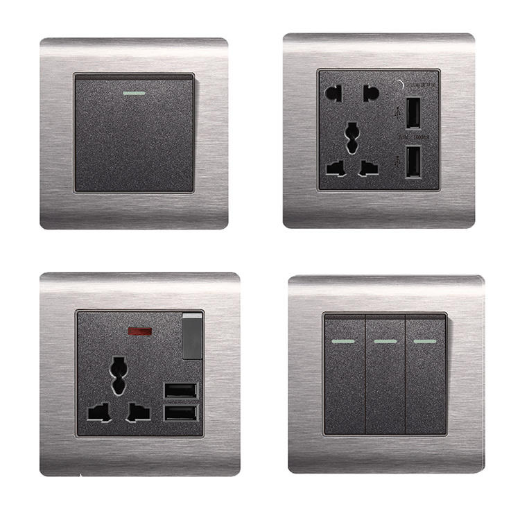 high quality stainless steel electrical wall switch socket