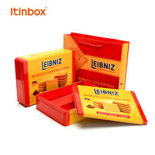Itinbox New Coming Christmas Gift Luxury Metal Box Biscuit Iron Box Cookie Tin Box Packaging with Window