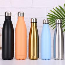 cola shaped double wall vacuum insulated stainless steel sport water bottle thermos flasks tea cup tumbler