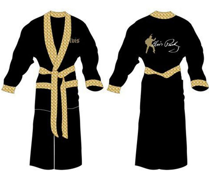 gold embroidered logo baroque bath robe embossed black cotton bathrobe for man