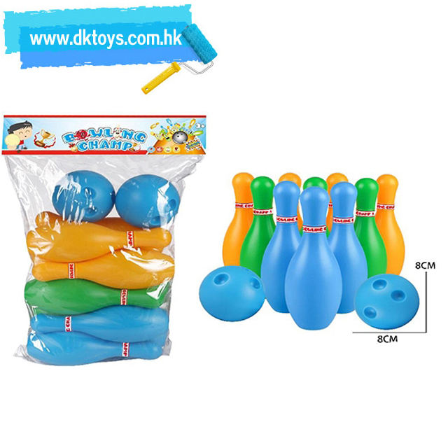 Sport Toy Bowling Set Simulation Ball Kit Bowling Pins Boy Battle Game Competition Outdoor Indoor Plastic Toys For Kids