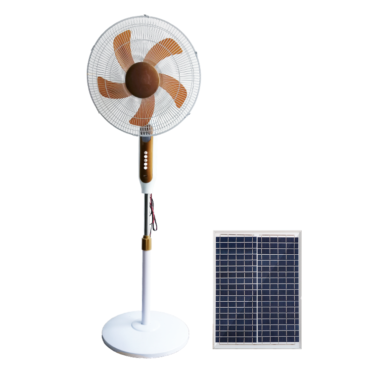 12v AC/DC solar ceiling fan with solar panel power lithium battery stand solar fan
