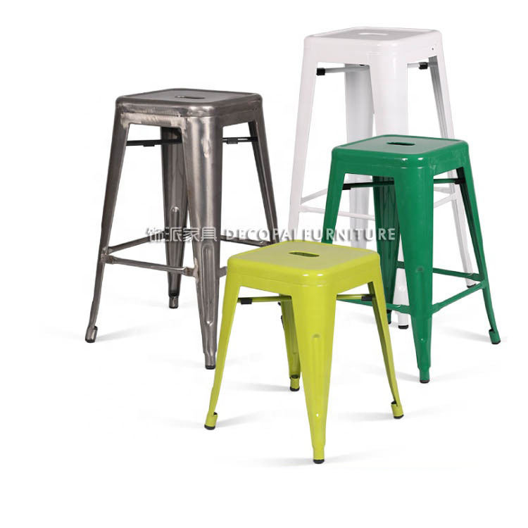 Modern Wholesale High Quality Outdoor Metal Industrial Bar Stool