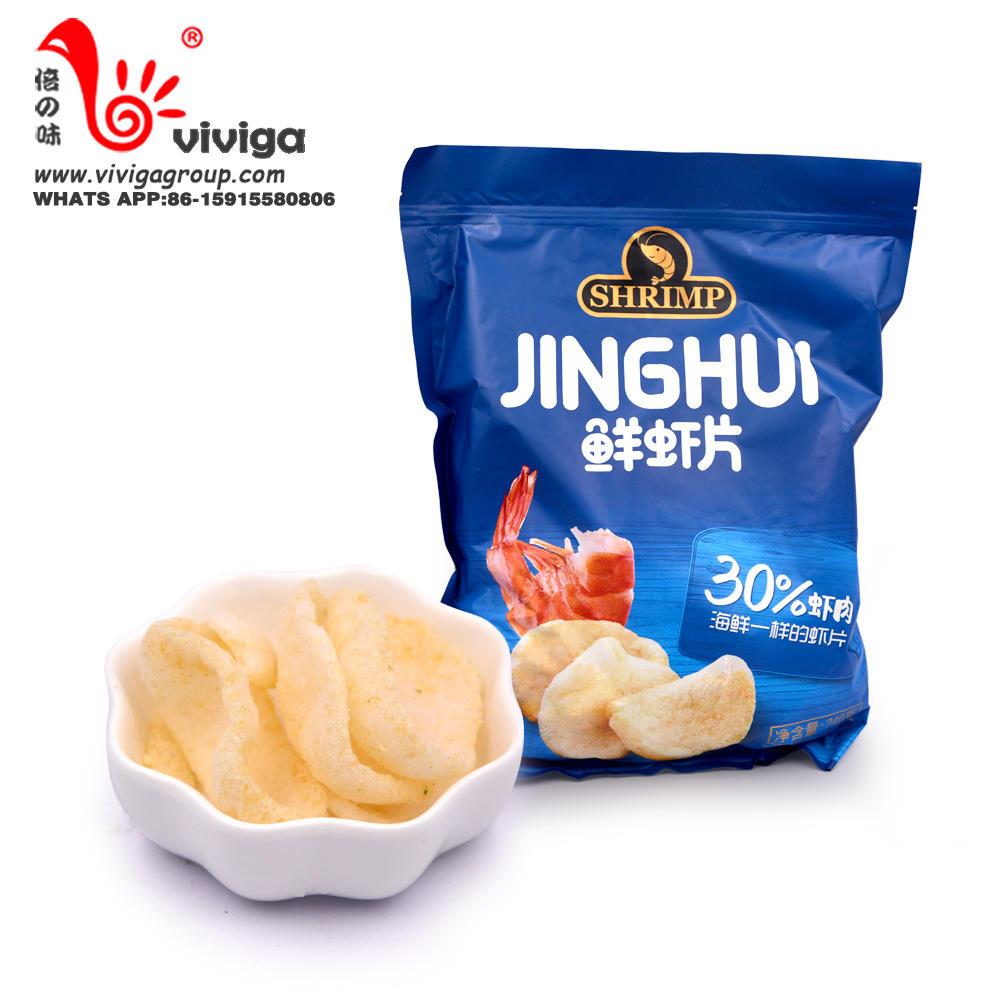 Crispy Shrimp Chips Snacks Chips Different Tastes Chips