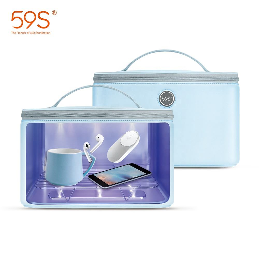 59s Uuc Box Large Sanitizing Box Portable Uvc Led Esterilizador Bag Uv Sterilizer Box