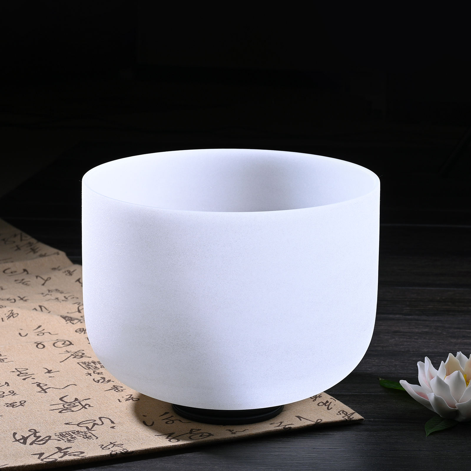 High quality chakra crystal singing bowl set sound healing cheap quartz singing bowl
