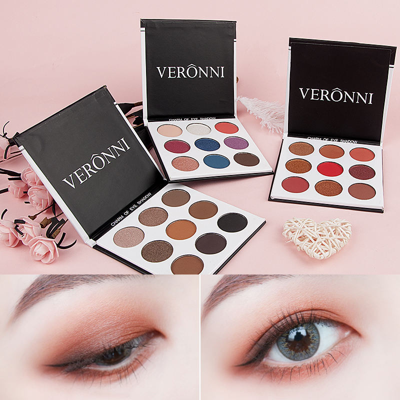 Wholesale Make-Up Matte Eyeshadow 12 Color Nude Balm Minerals Pigments Cosmetics Glitter Eye+shadow Makeup Palette