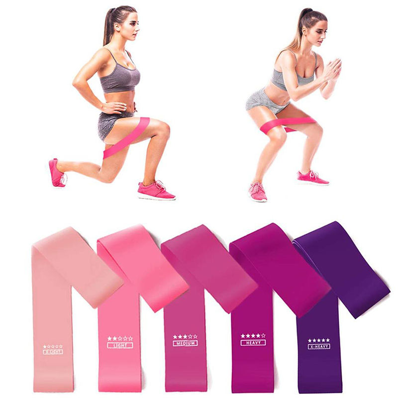 Customized Logo Natural Latex Fitness Workout Bands Exercise Bands Resistance Loop Bands for Home Fitness, Stretching