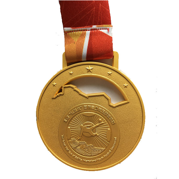 China Manufacture Cheap Wholesale Custom Metal Gold Award Running Soccer Sport Medal