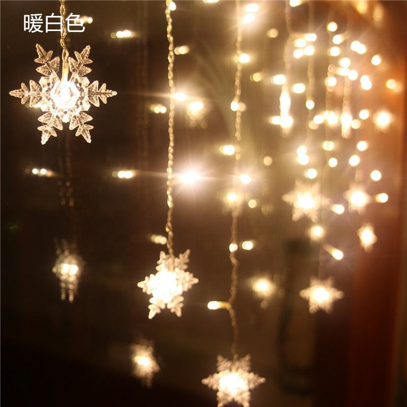 Hot selling 3.5M 96 lights christmas led snowflake icicle lighting string light for house Christmas decoration