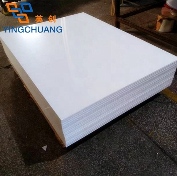 Yingchuang 4 x 8 3mm 6mm thick cheap price heat resistant white plastic cast acrylic sheet pmma board for bath tub