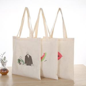 Sopurrrdy custom plain katoenen canvas schoudertas winkelen carry tote bag