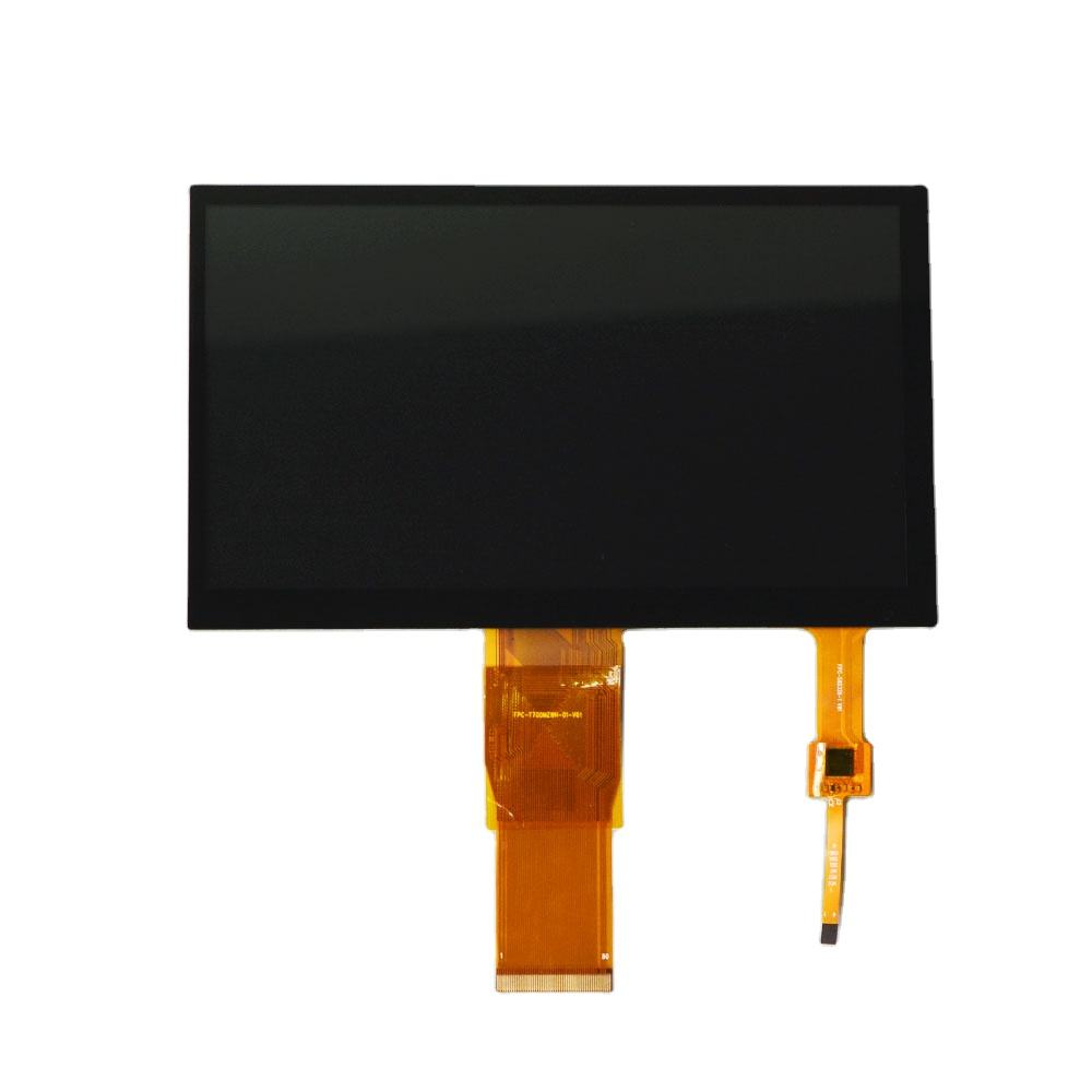 7inch 1024x600 800x480 IPS or 12 O'clock LCD display 7 inch tft lcd touch panel with RGB or lvds interface