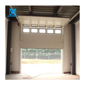Factory direct sale steel overhead sectional industrial door for factory