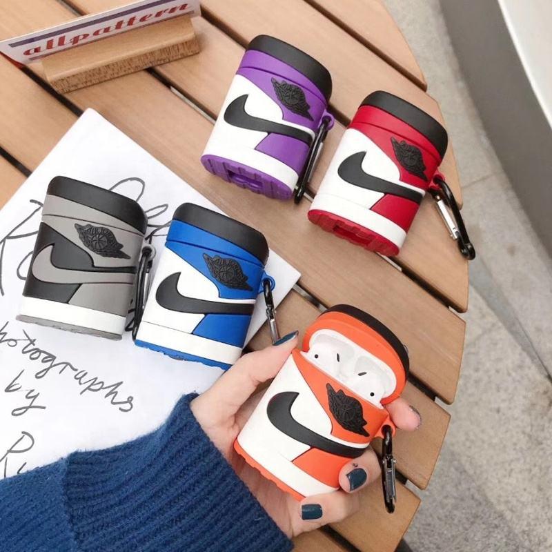 Créatif Étui à Écouteurs Accessoires Nike Baskets Pour Airpods Marque Housse Pour Airpods Pro Avec Crochet