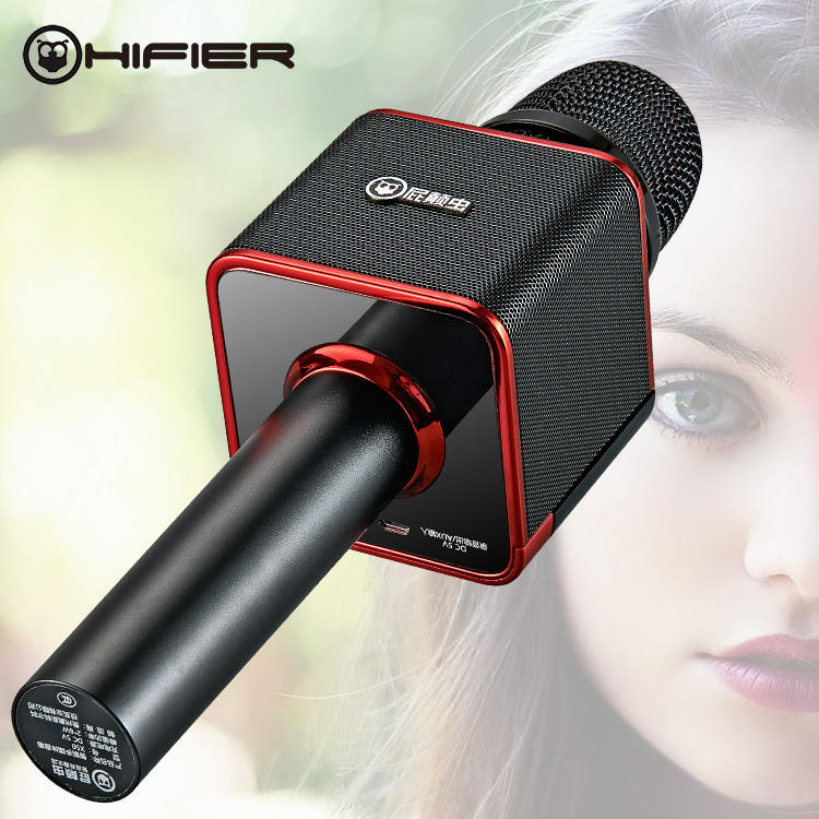 Hifier X51 Wireless Bluetooth Karaoke Microphone with Speaker 2 in 1 Magic Sound Portable Handheld Home Party KTV Music Singing