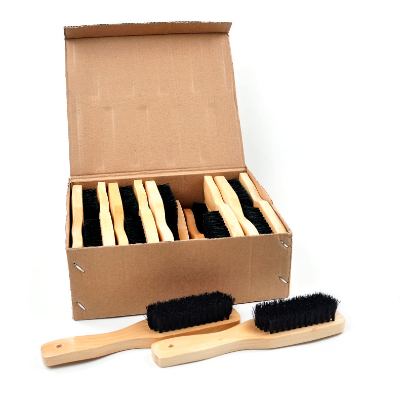 Zhejiang high quality 10Pcs/pack pp plastic hair wood clean burshshoe ballroom ballet dance shoe cleaning brushes