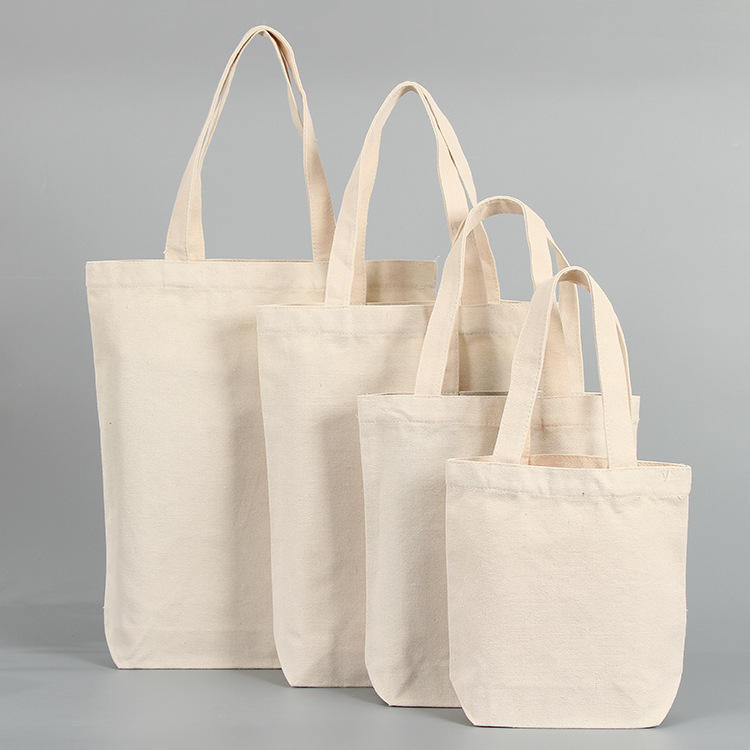eco friendly plain canvas shopper bag washable strong factory price tote bag