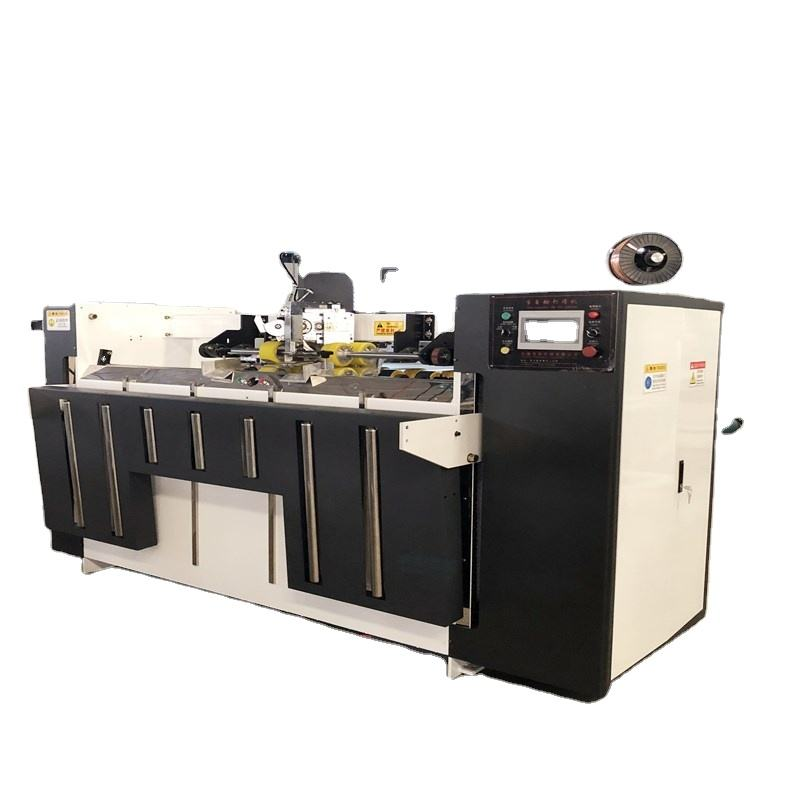 Corrugated carton box stitching machine -semi-automatic stitche