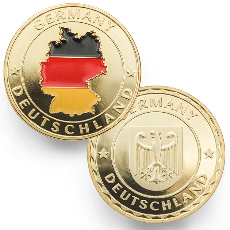Souvenir German Logo Metal Gold Commemorative German Coins