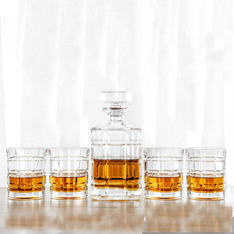 Newly launched 30oz Square Lead free Glass Whisky Decanter Set