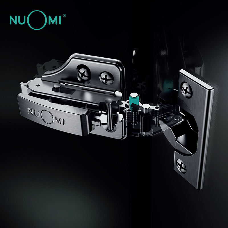 NUOMI Super Anti-rust Nano Titanium Plated 2 Section Buffering Cabinet Stainless Steel Hinges For Furniture Door