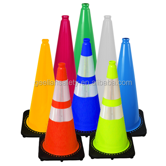 Australia /NZ/ American Standard Customize Green Color 28 Inch Road PVC Traffic Cone 900mm