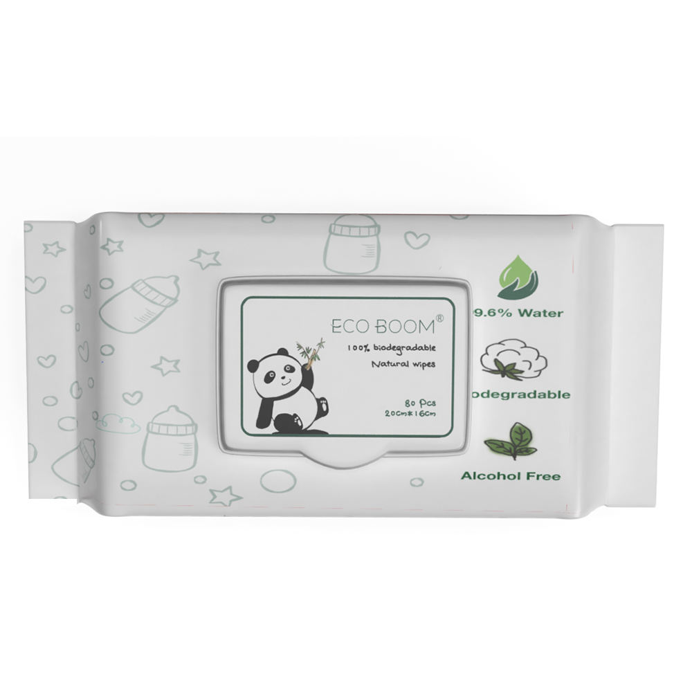 hand to mouth dedicated biodegradable 100% bamboo fiber degerming baby wet wipes