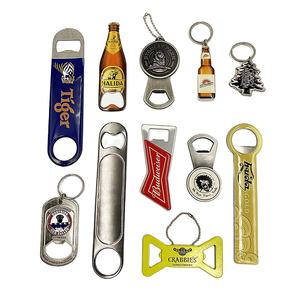 China Customized factory zinc alloy bottle shape iron metal bottle opener beer opener