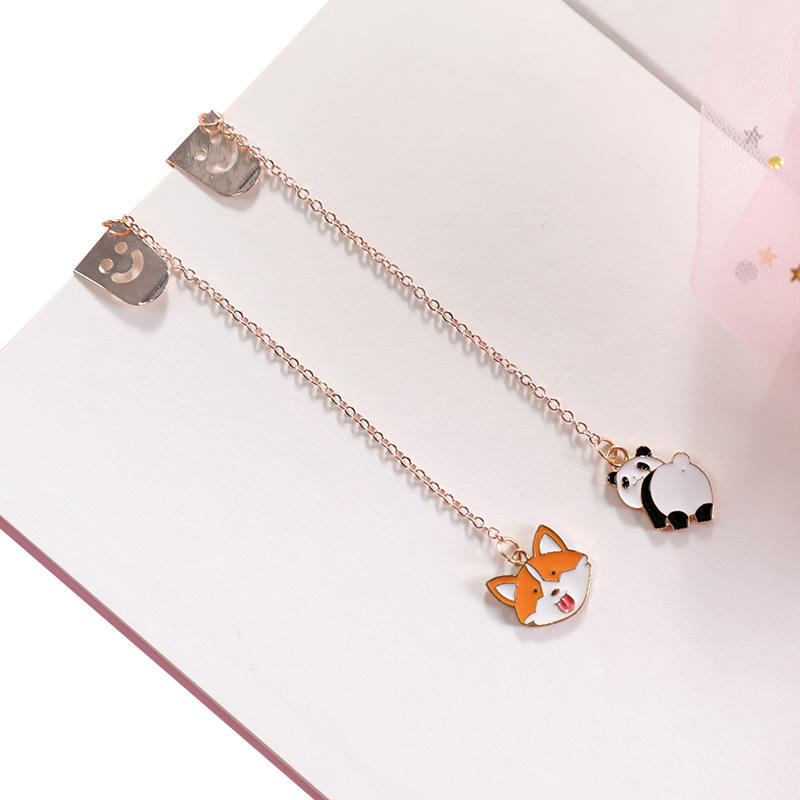 Panda Rocket Bottle Cat Claw Meteor Rabbit Cartoon Bookmark Stationery School Office Supply