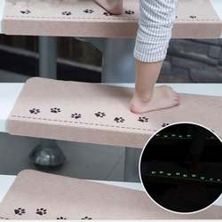 Free Shipping New Home Luminous Self-adhesive Non-slip Floor Staircase Carpets Bear Claw Pattern Stair Treads Children Safety Pr