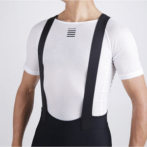 LAMWDA Anti-Transpiration Léger Tissu En Maille Blanche Vélo Cyclisme homme maillot cycle