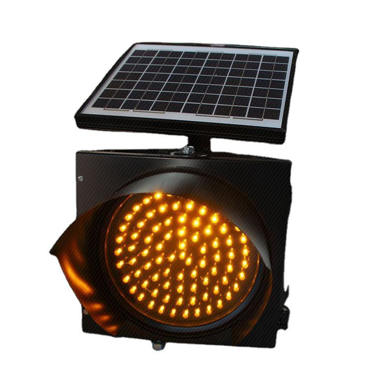 Hot style waterproof high-flux LED solar yellow flash traffic warning light with good quality solar panel and Li-battery
