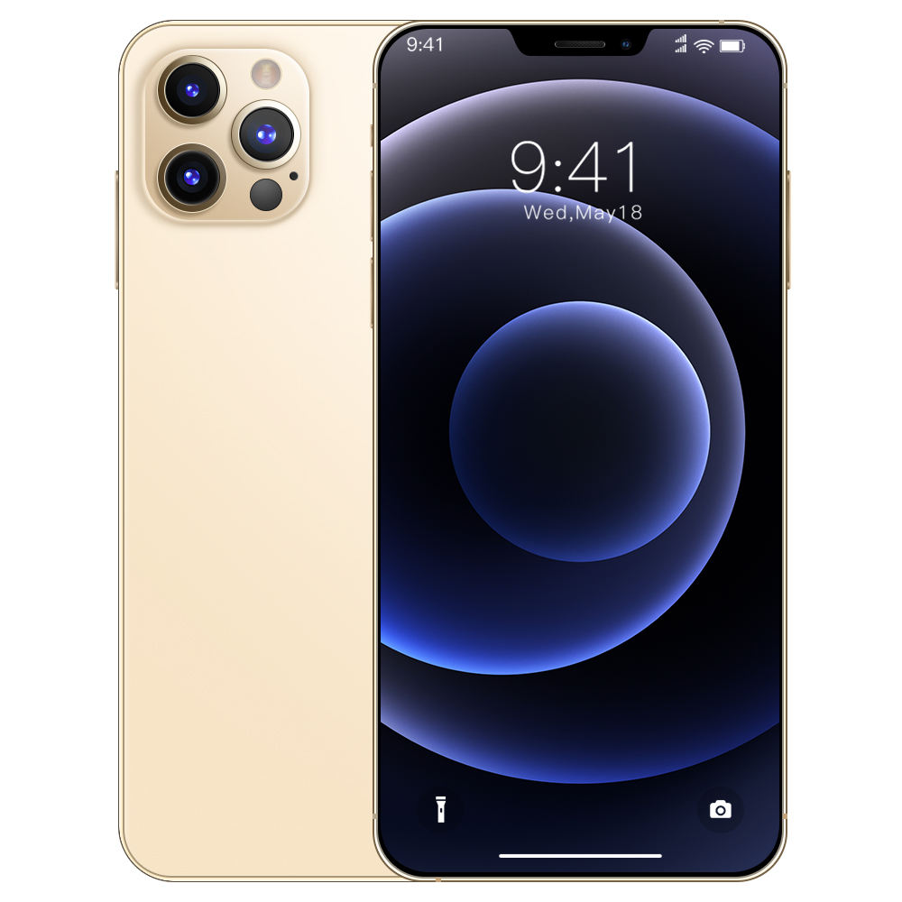 i12 promax Unlock 6.7-inch Mobile Phone 8+256GB Face ID Android Smartphone 5g network dual card 10 core TF expansion