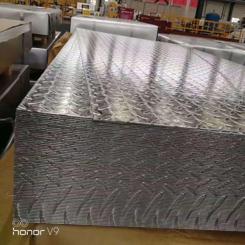 A53 A36 Hot dip galvanized steel plate/Checkered Plate