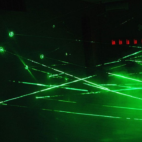 Real life room escape laser array props laser maze for Chamber of secrets game interesting and risking green laser room