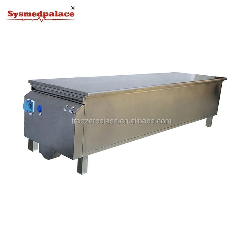Stainless Steel Corpse Body Washing Table Autopsy Table With Lifting Function Dead Body Postmortem Table In Hospital Or Lab